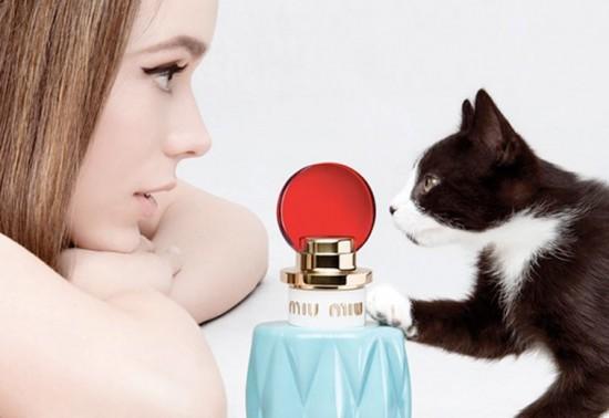 O 1º perfume da Miu Miu conta com um gato em sua propaganda além da atriz Stacy Martin - o nome dele é Truman!