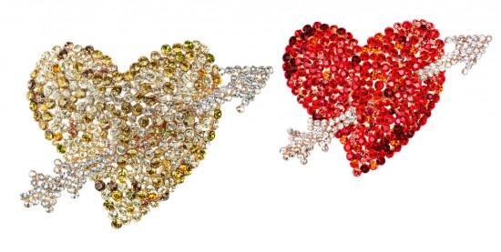 Coração flechado - até a Madonna já usou os broches da coleção de haute-joaillerie da Schiaparelli! Vem ver mais
