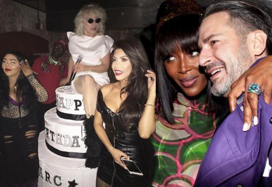 Marc Jacobs comemorou os 55 anos em grande estilo - clica pra ver mais!