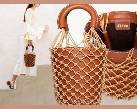 Bolsa balde + macramê = sucesso! Clica pra ver mais!
