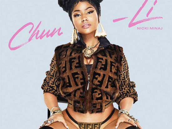 """Nicki Minaj e seu single novo """"Chun-Li"""" com a jaqueta da Fendi - a calcinha foi produzida por Enrique Urbina! Vem ver mais das ações da Fendi aqui na galeria!"""
