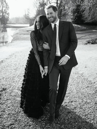 Meghan Markle na foto oficial do noivado - de Ralph & Russo! Será que a dupla vai fazer o vestido de casamento também?