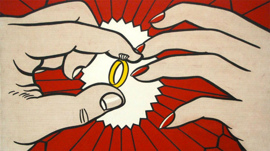 """""""Anel de Noivado"""", 1961, de Roy Lichtenstein - vem ver mais do que seria uma joia sustentável"""