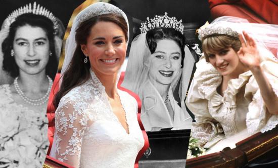 Relembre os looks das noivas da família real!