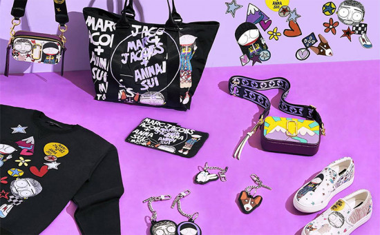 Marc Jacobs e Anna Sui se uniram pra desenvolver bolsas, roupas e acessórios bem coloridos - clica pra ver mais!