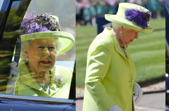Vestido verde casamento real