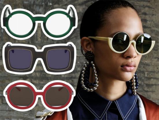 A grande novidade que chega ao Brasil são os óculos da Marni! Eles são geométricos e lindos