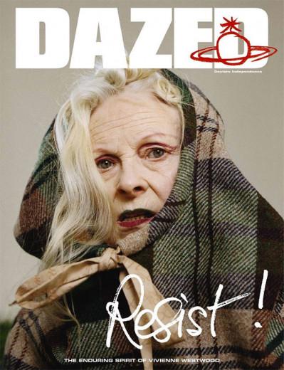 "Vivienne Westwood na capa da ""Dazed""! Resist!"