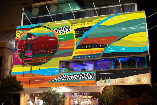 Pra criar a faixada da loja da Redley, no Rio, foram utilizadas mais de 300 latinhas de spray em 6 dias de ocupação! Vem saber mais!