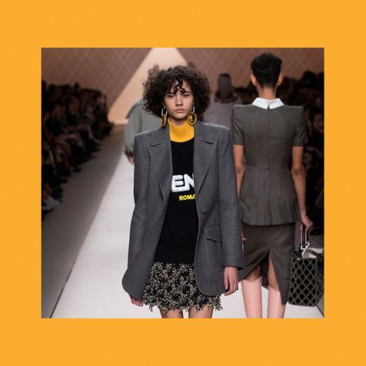 Último desfile da Fendi em parceria com a Fila - será que veremos algo parecido na colecão solo da marca esportiva?
