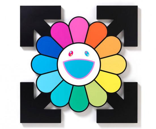 A união do grafismo de Abloh com a vibração positiva de Murakami está bem bacana! Vem ver mais!