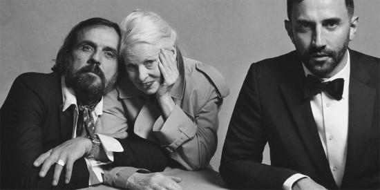 Andreas Kronthaler, Vivienne Westwood (de trench da Burberry!) e Riccardo Tisci - vem coisa boa por aí!
